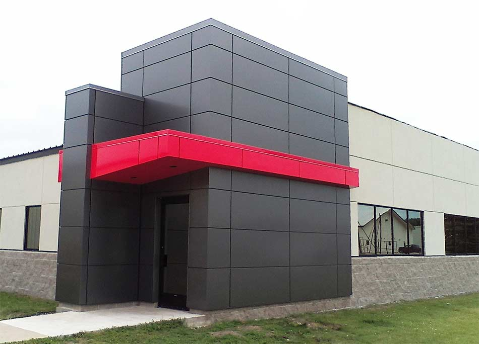 Custom Sheet Metal Building Front